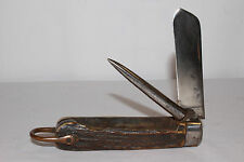 Early Non-XXL Joseph Allen & Sons Stag Handle Navy Riggers Knife & Marlin Spike