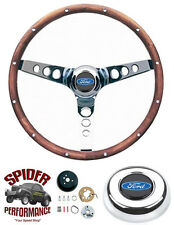 "1978-1991 FORD PICKUP STEERING WHEEL 13 1/2"" WALNUT GRANT STEERING WHEEL"