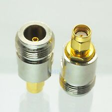 1pce Adapter N female to RP.SMA jack male RF connector straight