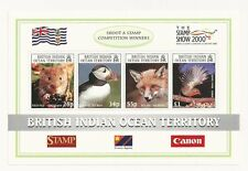 BIOT B.I.O.T. 218 SG MS235 The Stamp Show 2000 London NH Mint