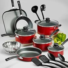 18 Piece Nonstick Cookware Set Pots And Pans Lid Kitchen Cooking Kitchenware NEW