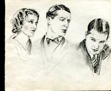 DESSINS ORIGINAUX Maurice CHEVALIER portraits
