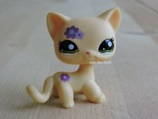 Hasbro Littlest Pet Shop LPS #1962 Figure Short Hair Purple Flowers Kitten Cat