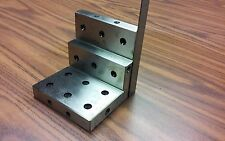 """ANGLE PLATE 4x4x4"""" stepped,Precision Ground w. tapped holes 0.0002"""" #PGAP-4-IN"""