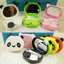 Stylish Travel Animal Panda Portable Storage Contact Lens Mirror Case Box Holder