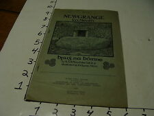 vintage travel paper--1929 NEWGANGE CO. MEATH, DUBLIN, 8PGS