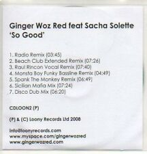 (59K) Ginger Woz Red ft Sacha Solette, So Good - DJ CD