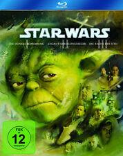 Krieg der Sterne STAR WARS Teil 1 2 3 I II III GEORGE LUCAS 3 BLU-RAY BOX  Neu
