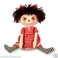 "10"" Rag Doll Independent Design Fabric Sewing PATTERN Soft Toy Easy Instruction"