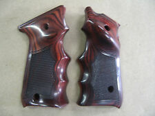 Ruger Mark II Mark III Target Wood Polished Rosewood Checkered Grips