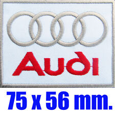 AUDI Embroidered Iron On Patch Embroidery Brand Mark Emblem Car Automobile Logo