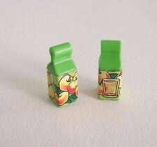 PLAYMOBIL (R1123) COMMERCE - Lot de 2 Briques Packs de Jus de Pomme