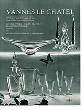 PUBLICITE ADVERTISING 044  1963  VANNES LE CHATEL   CRISTAL