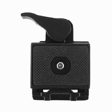 323 Quick Release Adapter For Camera DSLR with Manfrotto 200PL-14 QR Plate black