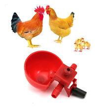 5Stk Rot Coop Huhn Vogel Geflügel Automatische Trinkwasser Trinkbecher Dispenser