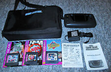 Sega Game Gear Console * NEW CAPACITORS GLASS SCREEN * BUNDLE GAMES CASE
