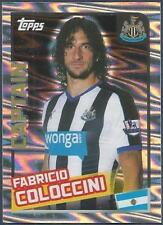 TOPPS 2016 PREMIER LEAGUE #282-NEWCASTLE UNITED-CAPTAIN-FABRICIO COLOCCINI-FOIL