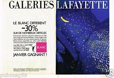 Publicité advertising 1987 (2 pages) Magasins Les Galeries Lafayette
