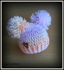 HANDMADE  Crochet Knit Easter Spring Hat Baby  sizes newborn photo prop