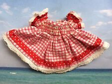 LALALOOPSY DOLL FULL SIZE  ORIGINAL REPLACEMENT DRESS RED & WHITE GINGHAM