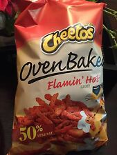 Cheetos Oven Baked Flamin Hot Lot of 4 7.5 Oz Large Bag 50% Less Fat Gluten Free