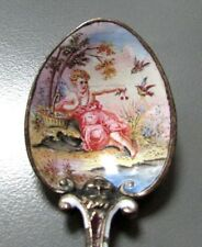 19th CENTURY VIENNESE BRONZE FABULOUS ENAMELED SPOON