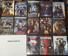 Ultimate Super Hero Marvel DC Avengers Thor Deadpool Civil War Iron man DVD SET