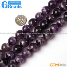 14mm Natural Dream Lace Amethyst Round Beads For Jewelry Making Free Shipping