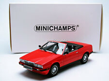 Minichamps 1986 MASERATI BITURBO SPIDER Red in 1/18 Scale New!