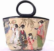 ISABELLA FIORE Vintage Sequinted & Beaded Geisha Girls Tote Purse