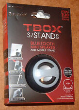HYPE TBOX BLUETOOTH MINI SPEAKER & MOBILE STAND HYAU-327-BLK; Black, Brand New!
