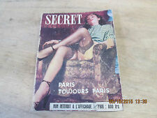 Secret. Paris Toujours Paris. Französisches Erotikmagazin 1952