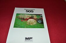 Massey Ferguson 505 Round Bale Mover Dealers Brochure LCOH