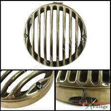 Brass Front Headlight Head Light Lamp Guard Grill Cover Harley 2009-UP Touring
