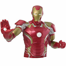 Marvel Avengers 2 Iron Man Bust Bank NEW Toys Coin Bank Marvel Comics
