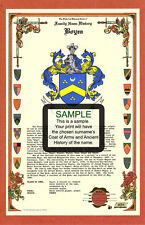 A's CELEBRATION Armorial Name History Coat of Arms Family Crest 11x17 CUSTOM HRC