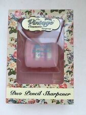 The Vintage Cosmetic Company Duo Pencil Sharpener in box with voucher