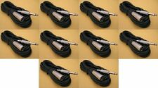 """10 PACK x 6FT XLR 3Pin MALE to 1/4"""" MONO Plug Mic Microphone Audio Cord Cable"""