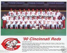 1990 CINCINNATI REDS WORLD SERIES CHAMPIONS 8X10 TEAM PHOTO