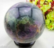 60-65MM Glow In The Dark Natural Purple Fluorite Magic Crystal Healing Ball