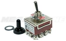 Heavy Duty 20A/125V 4PDT ON-OFF-ON Toggle Switch w/Waterproof Boot. USA SELLER!