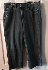Ladies Jeanstar Jeans Capri Missy Size 14 Cotton Polyester Blend