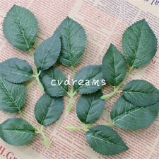 150 Rose Leaves 50 Springs Artificial Silk Green Leaf Wedding Craft Buttonhole