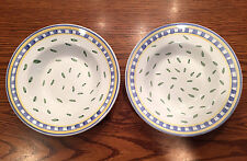 "2 Williams-Sonoma TOURNESOL-ITALY 9 3/4"" Rimmed Pasta/Soup Bowls~New/Unused"