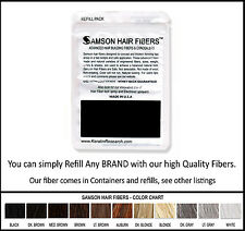 Samson BLACK Hair Building Fibers LG 25gr Best Hair Loss Concealer in The World