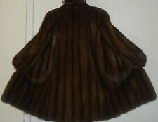 Saks Fifth Avenue Russian Sable Silver Tip Sable Fur Jacket Coat Size 10-12