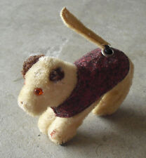 Vintage 1930s Windup Mohair Dog Toy Woks but has Wear