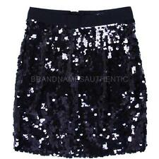D&G Dolce&Gabbana Black Sequin Embellished Satin Mini Skirt NWT 38 0 2 XS SALE