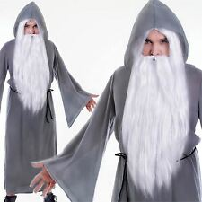 ADULT GREY WIZARD DUMBLEDORE GANDALF CLOAK CAPE FANCY DRESS COSTUME NEW