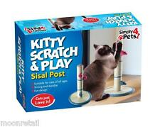 Large Cat Scratch Post Activity Pole Centre Climbing Play Sisal Scratcher Toy